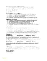 Resume Personal Attributes Templates Best of Personal Resume Template Or Resume Personal Attributes Examples
