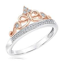 disney enchanted fine jewelry snow white tiara princess ring 1 10ctw size 5 5
