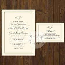 Elegant Wedding Invitations Classic Wedding Invitations Formal