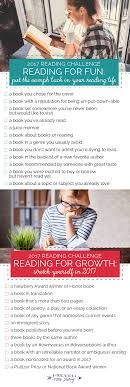 The 2017 Reading Challenge   Reading challenge, Books and Reading ...