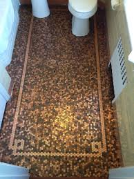 Penny Tile Kitchen Floor Cents And Sensibility How To Install A Copper Penny Floor