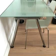 computer table ikea desk frosted glass dining instructions canada