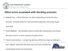 Personal Finance Checking Accounts Presented By Mrs Bowden Ppt