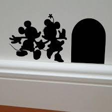 mickey et minnie maison vinyle diy wall sticker home decor souris