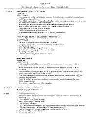 Sommelier Resume Samples Velvet Jobs