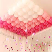 room decoration with balloons and