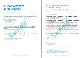Example Of Response Essays The Senior English Writing Handbook Text Response Chapter