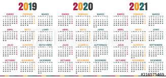 2020 2020 Weekly Planner Spanish Planning Calendar 2019 2021 Week Starts On Monday