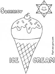 Small Picture Printable summer ice cream coloring pages for preschool