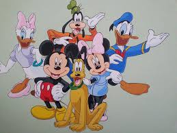 walt disney characters acrylic canvas painting by muralsedge