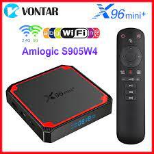 VONTAR X96 Mini Plus Smart TV Box Android 9 Amlogic S905W4 Quad Core Dual  Wifi 4K Set Top Box Support Google Voice X96mini plus|Set-top Boxes