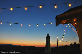 diy garden string lights. chic outdoor string lights diy posts for hanging house updated garden t