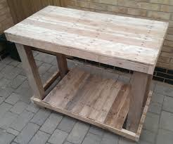 Wood Pallet Table Top Pallet Workbench 7 Steps With Pictures