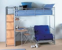 full size loft bed with desk and futon chair  decorative desk
