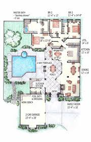 mediterranean house plans with courtyard in middle style home pool throughout recent houseerranean plans courtyard in