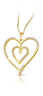 a lovely heart pendant to offer your valentine from pure gold jewellers
