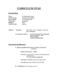 B Pharma Fresher Resume Samples