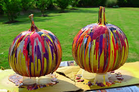 easy way to paint pumpkins