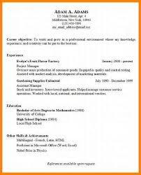 Basic Resume Sample Sample Basic Resume Format Sample Basic Reference Letters Words
