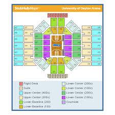 Dayton Arena Seating Chart Ncaa 80 Proper Ud Arena Address