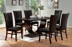 Amazoncom  Woodmont Solid Wood Walnut Finish Formal 9Piece Solid Wood Formal Dining Room Sets