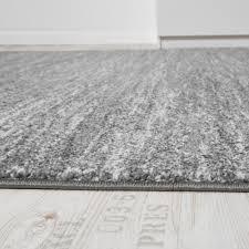 Teppich Kurzflor Grau Anthrazit Creme
