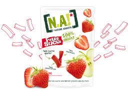 Fruit Sticks Fraise 100% naturel et sans sucres ajoutés | NA !