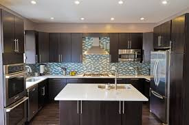Dark Blue Kitchen Cabinets Dark Kitchen Cabinets With Blue Backsplash Quicuacom