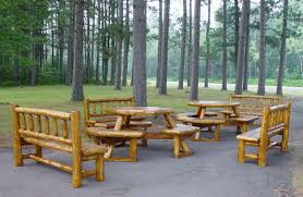 image of perfect outdoor log furniture