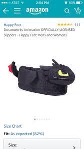Happy Feet Slippers Size Chart