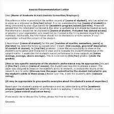 Recommendation Letter From Employer For Student Sample Letter Of Recommendation For Graduate School From