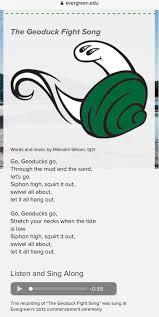geoduck fight song #greenerpride ...