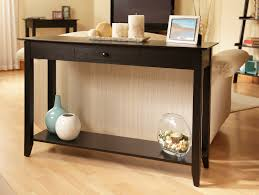 Black sofa table with drawers Side Convenience Concepts American Heritage Console Table With Drawer Shop Your Way Convenience Concepts American Heritage Console Table With Drawer
