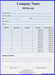 Bill Formats In Word 15 Lodge Bill Format In Word Receipts Template