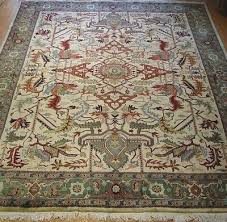 9 x 12 spectacular hand made 100 wool heriz belgium oriental rug cleaned