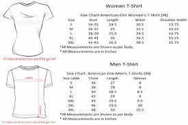 Usa T Shirt Size Chart Coolmine Community School