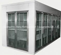 commercial walk in cooler with glass door