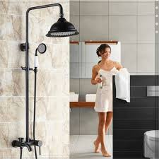 oil rubbed bronze 8 rain shower systems with handheld shower
