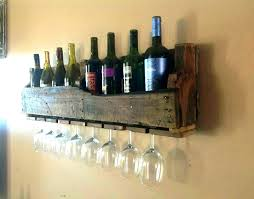 wine racks completed glass wooden wall hung wooden