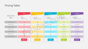Pricing Template For Services Pricing Table Powerpoint Template