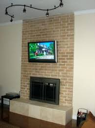 tv wall mount into brick fireplace how to a on fantastic mounting ideas