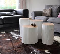 Tree stump furniture Large Tree Stump Table With White Finish Pinterest 25 Gorgeous Tree Stump Tables Insteading
