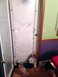 buffalo resident patrick bryne took this photo of his dog sniffing his front door which has been blocked with snow on nov 18 2018 a lake effect snowstorm