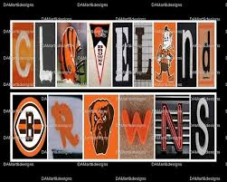 nfl cleveland browns framed alphabet photo art by damartndesigns 35 00 on cleveland browns wall art with 135 best it s game day images on pinterest cleveland rocks