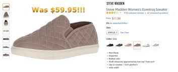 Steve Madden Womens Ecentrcq Sneaker A Better Amazon Agency