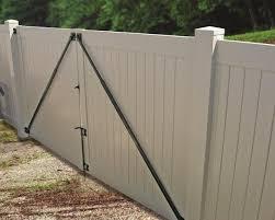 vinyl fence gate hardware. Gate Anti Sag Kit Black Vinyl Fence Hardware L