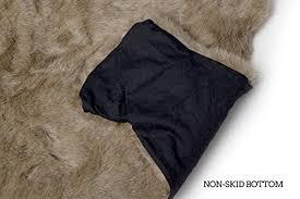 carstens plush white tail deer animal rug large