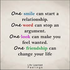 Quotes About Smile And Friendship Adorable Sucsess Quotes One Smile Can Start A Relationship One Word Can