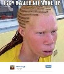 iggy azalea no makeup albino