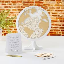 Wedding Guest Book Wedding Guest Book Alternative Globe